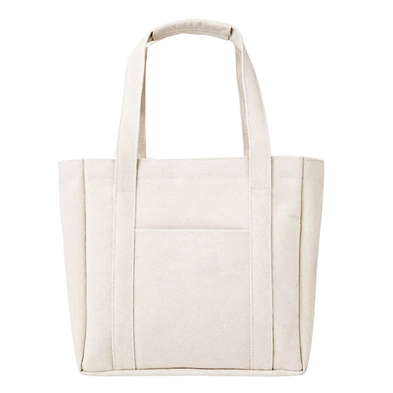 Bolso De Mano 100% Pure color cotton canvas lunch storage bag shopping tote canvas handbag Featured Image