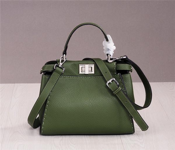 Western Style Brand High Quality Handbag Women Luxury Handbag Green Cowskin Featured Image