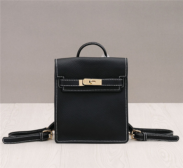 Black Lychee Leather Brand Name Backpacks For Both Women And Men Tote Bags