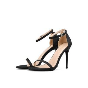 Lady Gold Sequin Fine Heel Sandals Women
