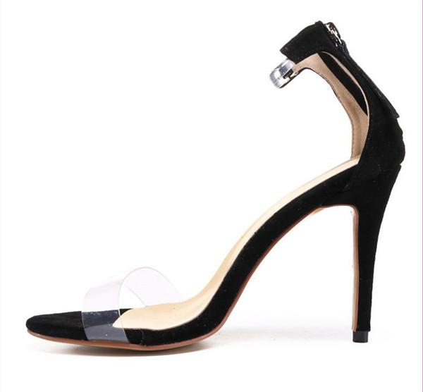 Hot Sale Women Exquisite Beautiful Stiletto Sandals Black
