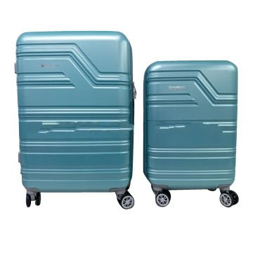 ABS PC new style uneven shell trolley luggage bag