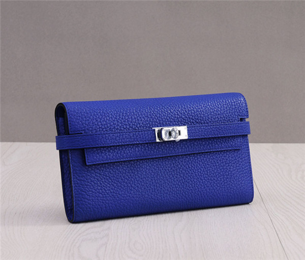 High Quality Purple TOGO Leather Clutch Kelly Wallets
