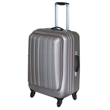 ABS film hardside luggage with front zipper pocket