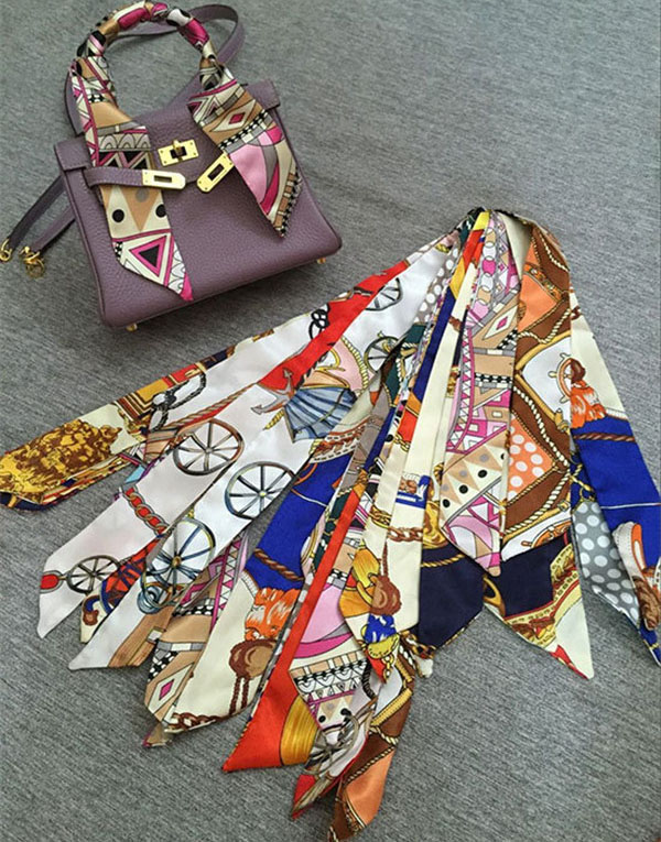 Fashion Silk Satin Scarf For Bag Decorations Silk Accessory Featured Image