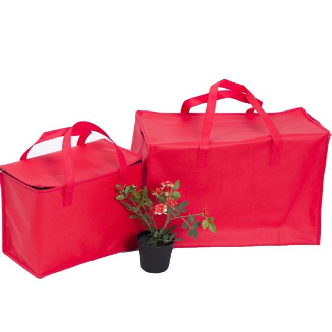 Zipper red heat preservation bag wholesale cake and fruit cooler bag fresh keeping bag