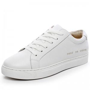 Women Genuine Leather Sneakers White