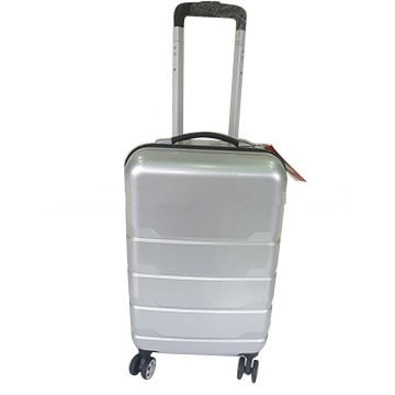 ABS silver trolley expandable boarding luggage Featured Image
