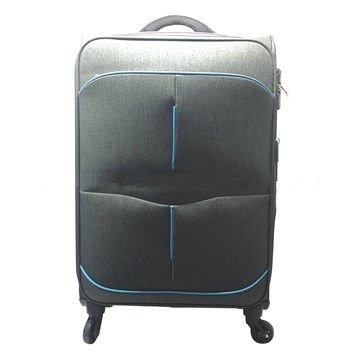 4 wheels expandable polyester soft luggage