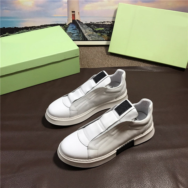 OEM Men Italian White Leather Sneakers Men Sports Shoes Size 38 To 46
