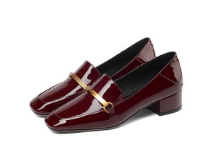 England Style Patent Leather Shoes For Women