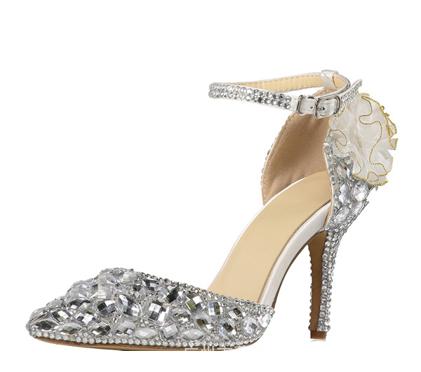 High Quality Cow Leather Women Wedding Shoes