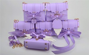 Multiple Wearing Methods Purple Bags Handbags Women Bowknot Hand Bag With Shoulder Strap
