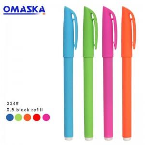 Matte gel pen custom printed logo advertising pen custom gift signature pen office stationery plastic pen wholesale