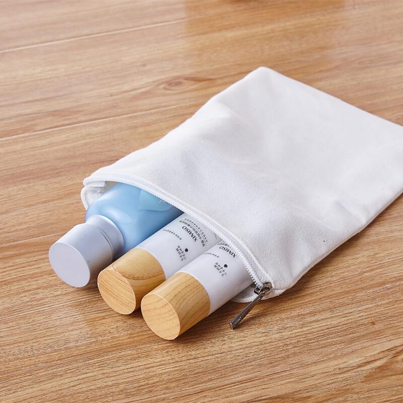Bolsa De Cremallera De Lona Factory Sale Eco Friendly Breathable Canvas Storage Zipper Bag